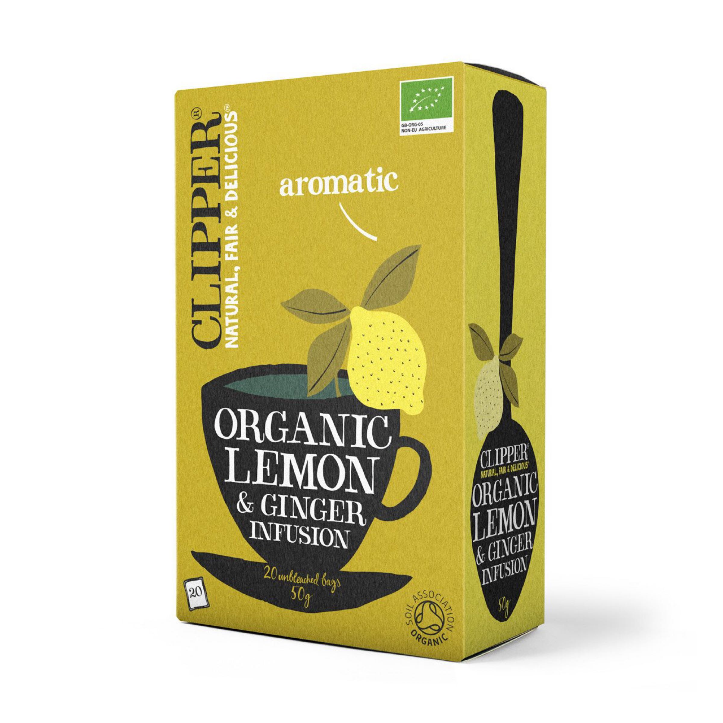 Clipper Organic Lemon & Ginger Tea (20 bags)
