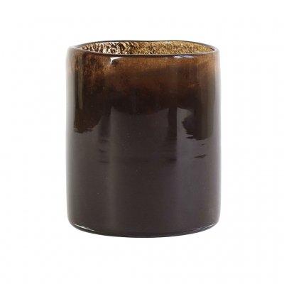 Lyric Candleholder, Medium, Dark brown