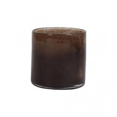 Lyric Candleholder, Small, Dark Brown