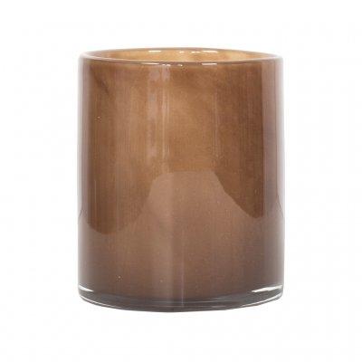 Lyric Candleholder, Medium, Brown