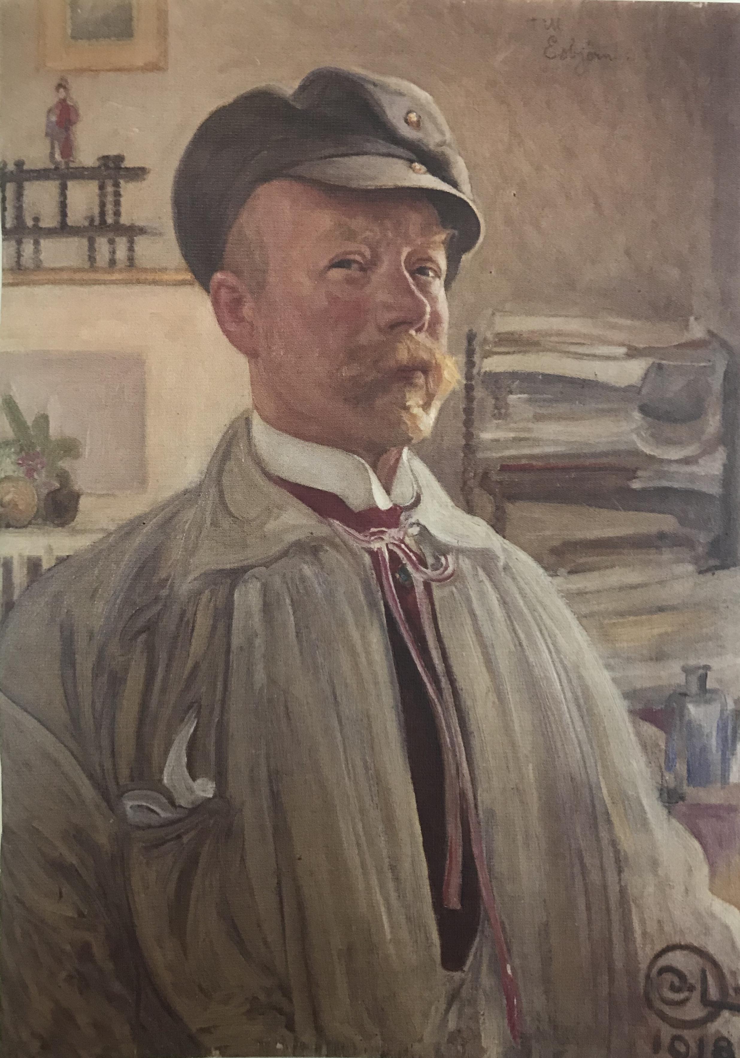 Anteckningsbok Carl Larsson porträtt