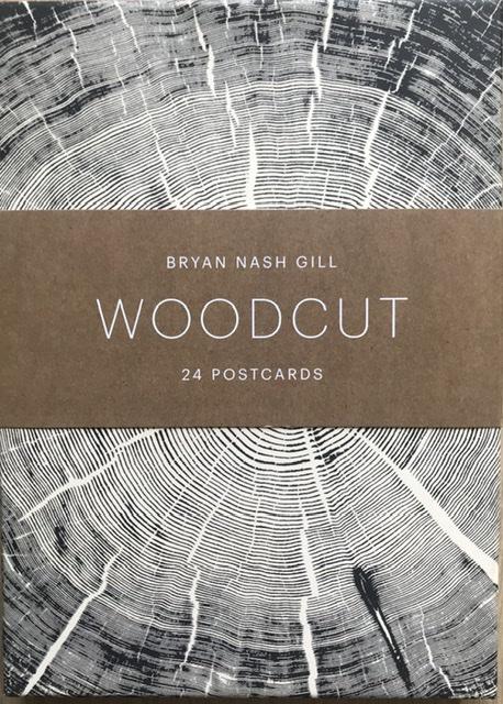 Woodcut vykort