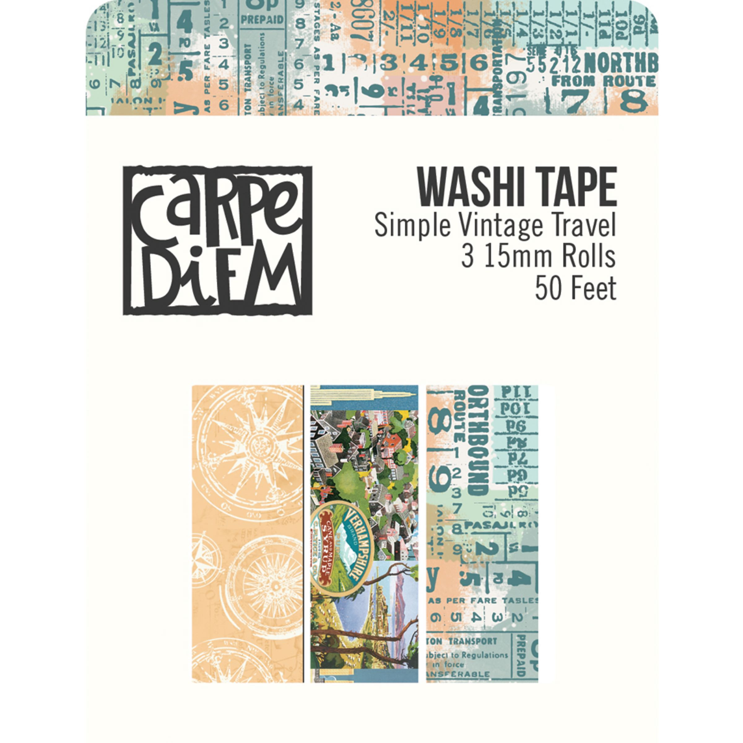 Simple Stories Vintage Traveler by Frank Garcia - Washi Tape