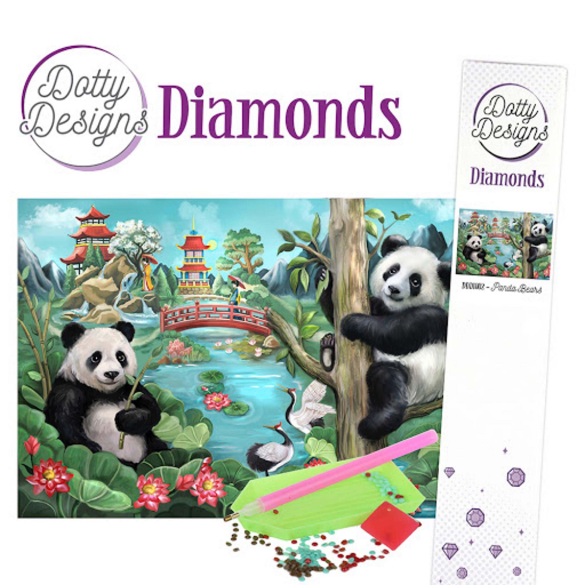 Dotty Design Dimonds - panda bear