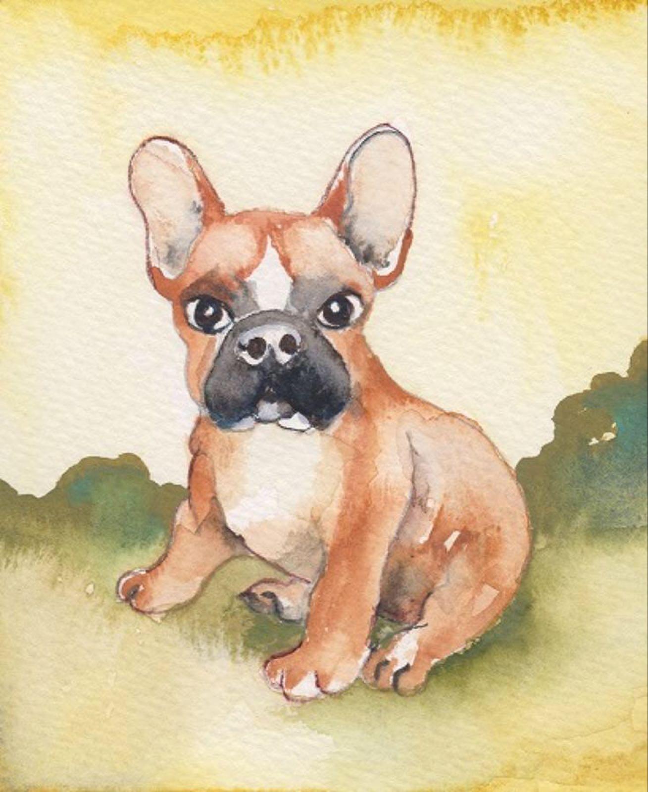 'French Bulldog' Furzedown Gallery Mini Card