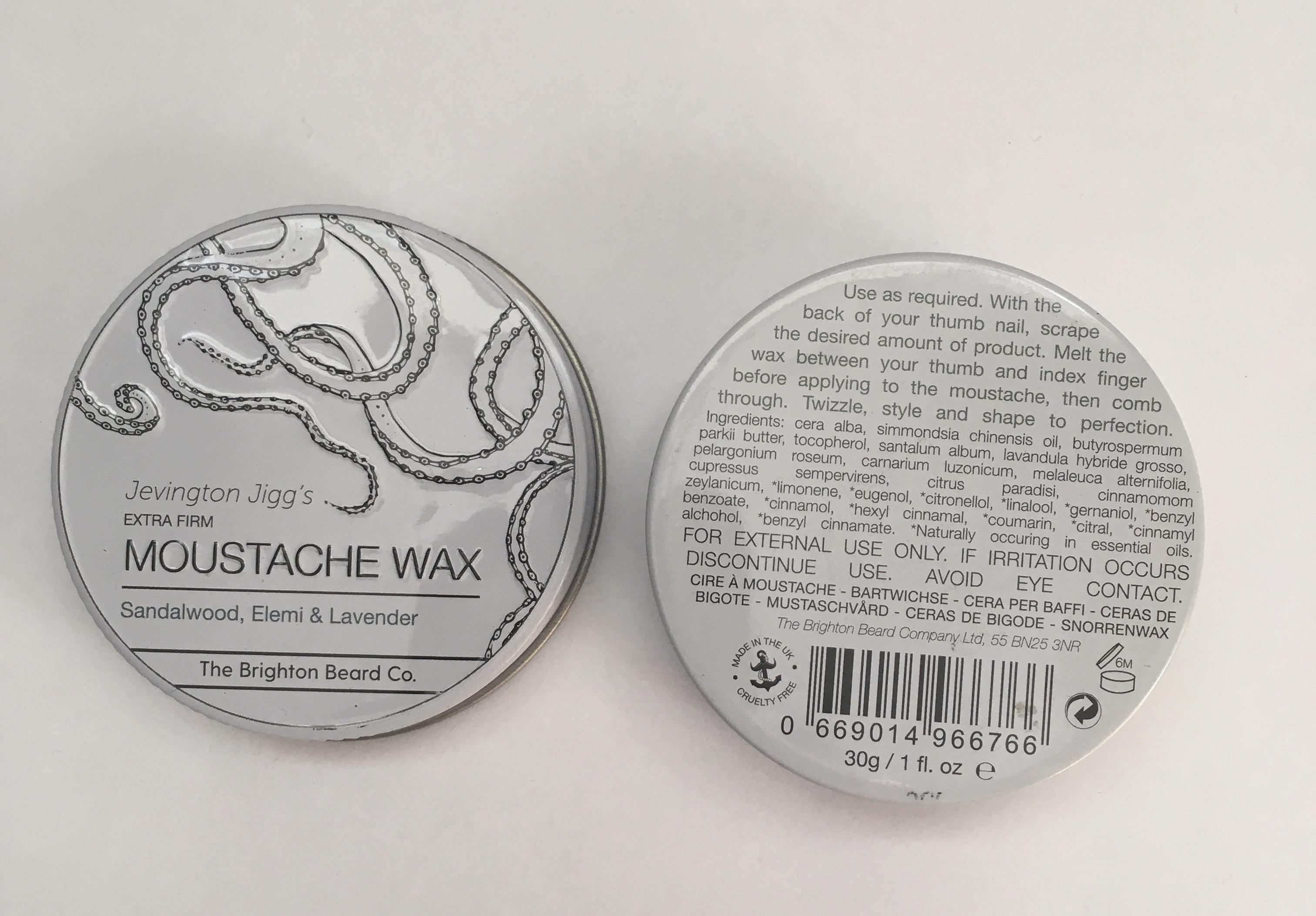 Moustache wax extra firm 30g sandalwood Elemi & lavender