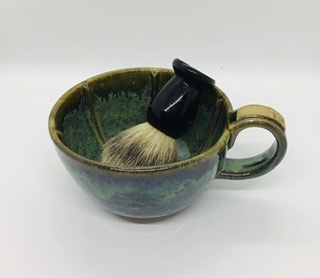 Shaving mug/bowl green