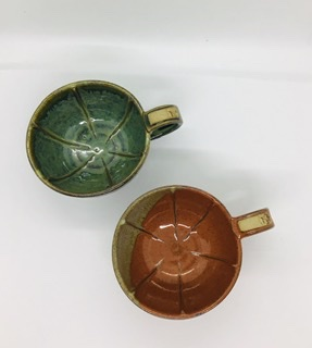 Shaving mug/bowl green