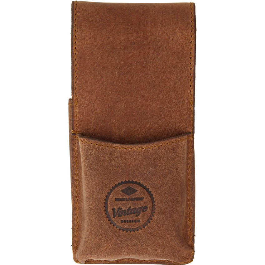 Leather razor case with a pouch for your pack of blades