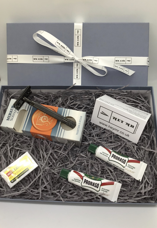 Merkur 23 Black PVD Double Edge razor gift box