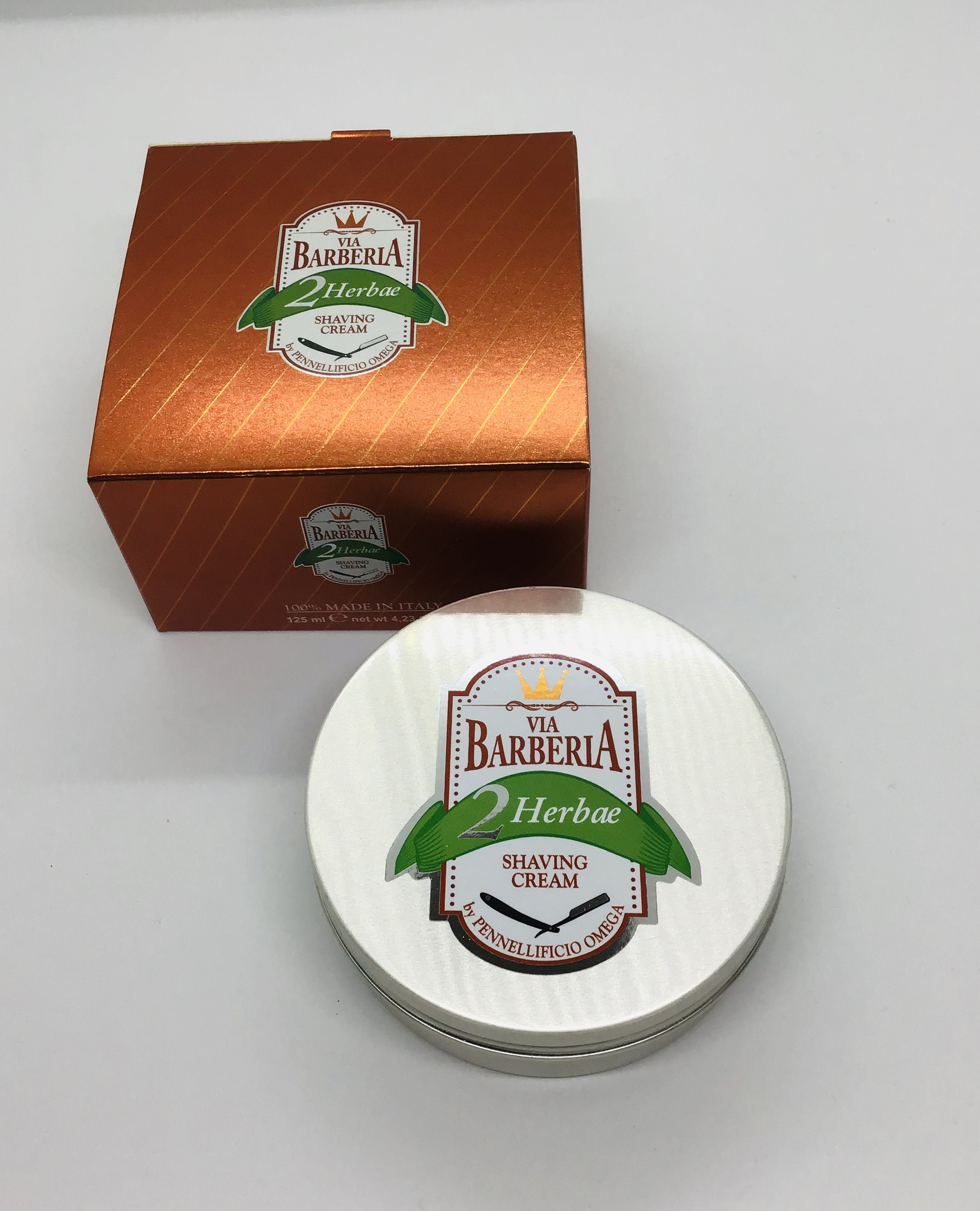 Via Barberia shaving cream tin 125ml