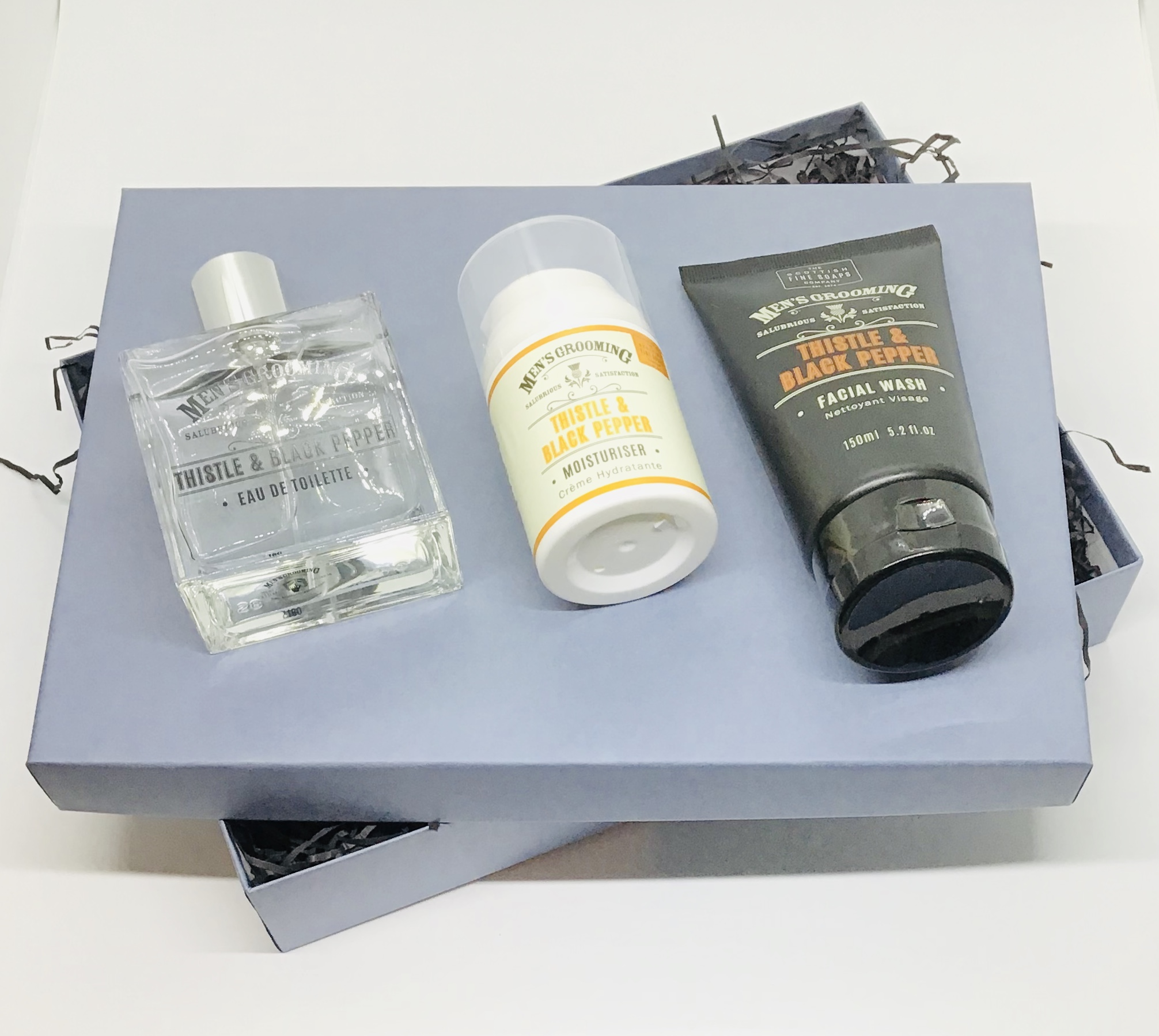 Blackpepper Eau de toilette, face wash  and moisturiser gift box