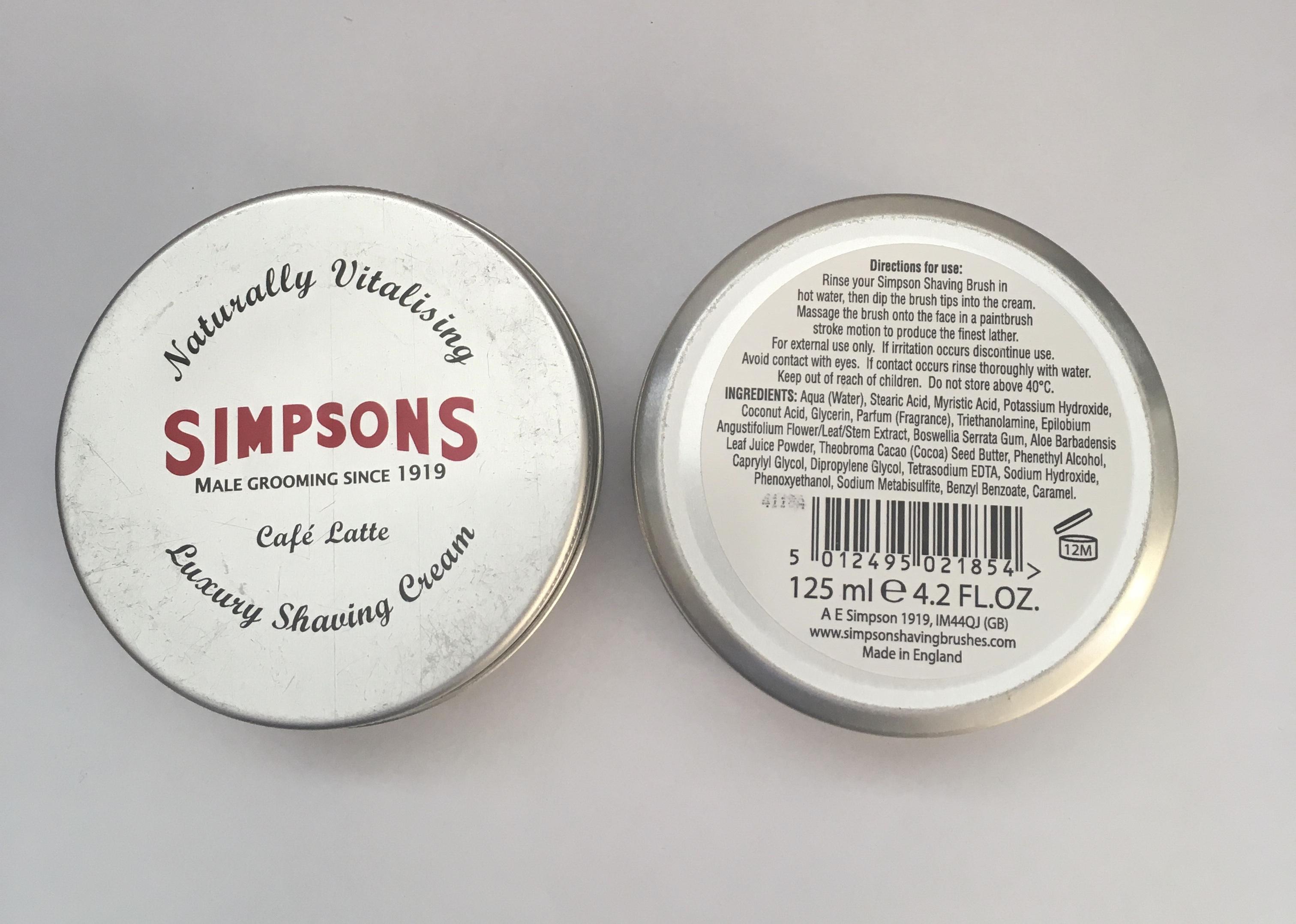 Simpson's Shaving Cream