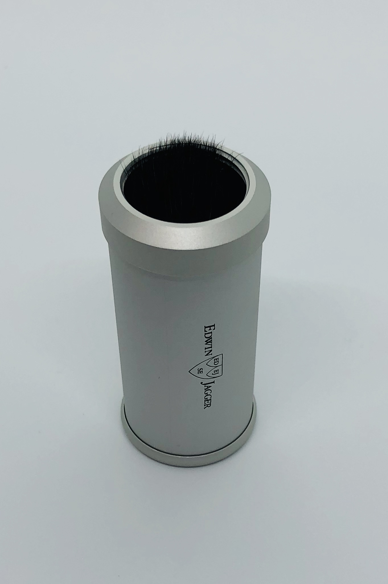 Travel brush edwin jagger silver synthetic