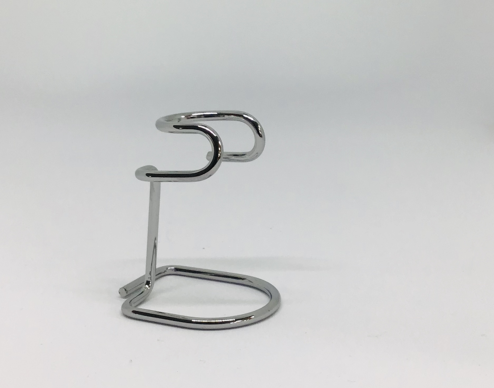 Omega Curved chrome brush stand