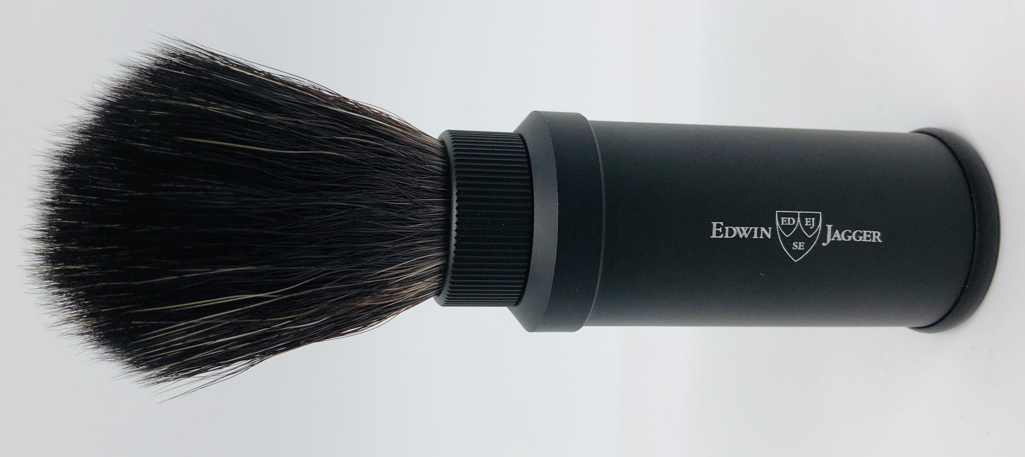 Travel brush synthetic black Edwin jagger