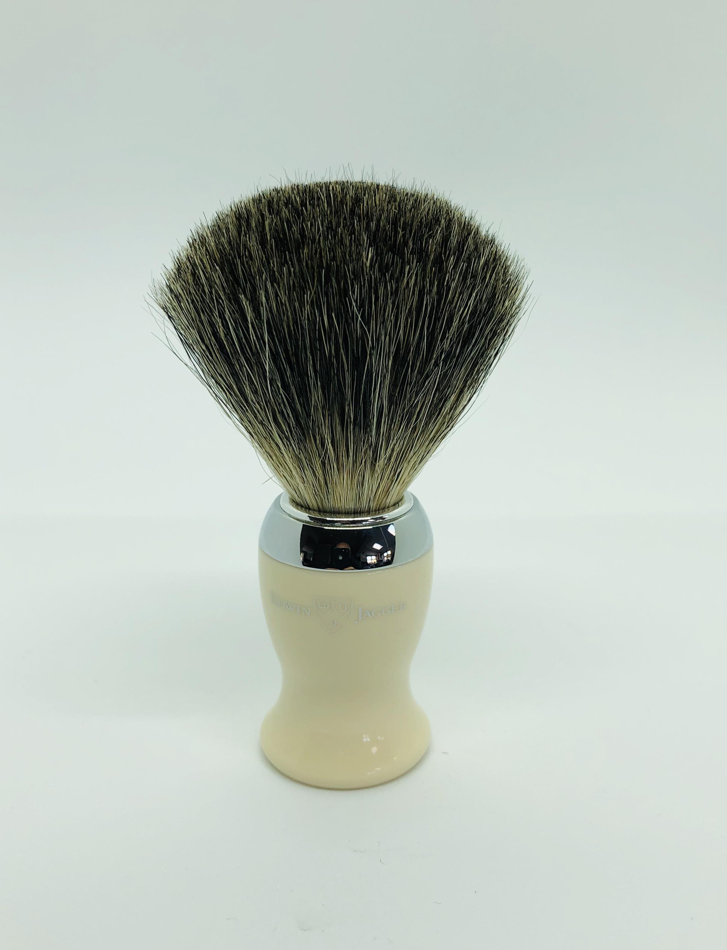 Edwin jagger 1 part chrome pure badger brush