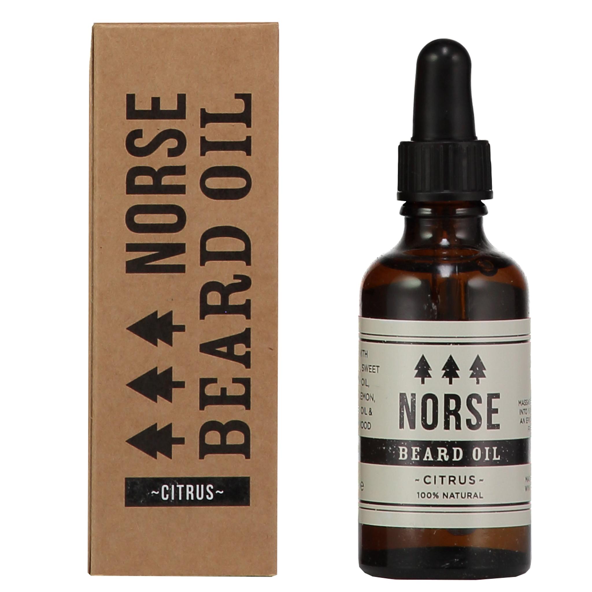 Norse beard oil citrus