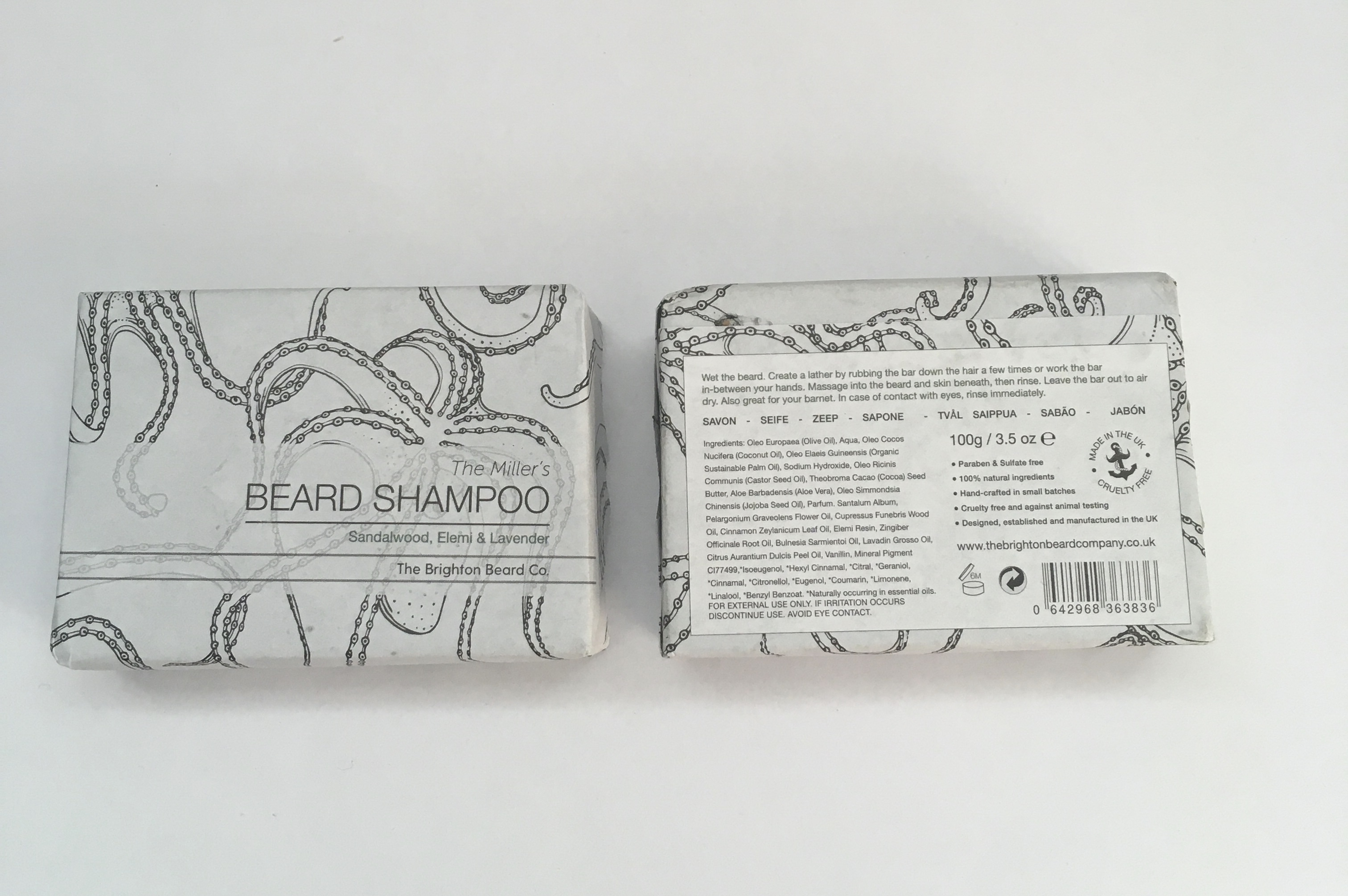 Brighton Beard shampoo bar