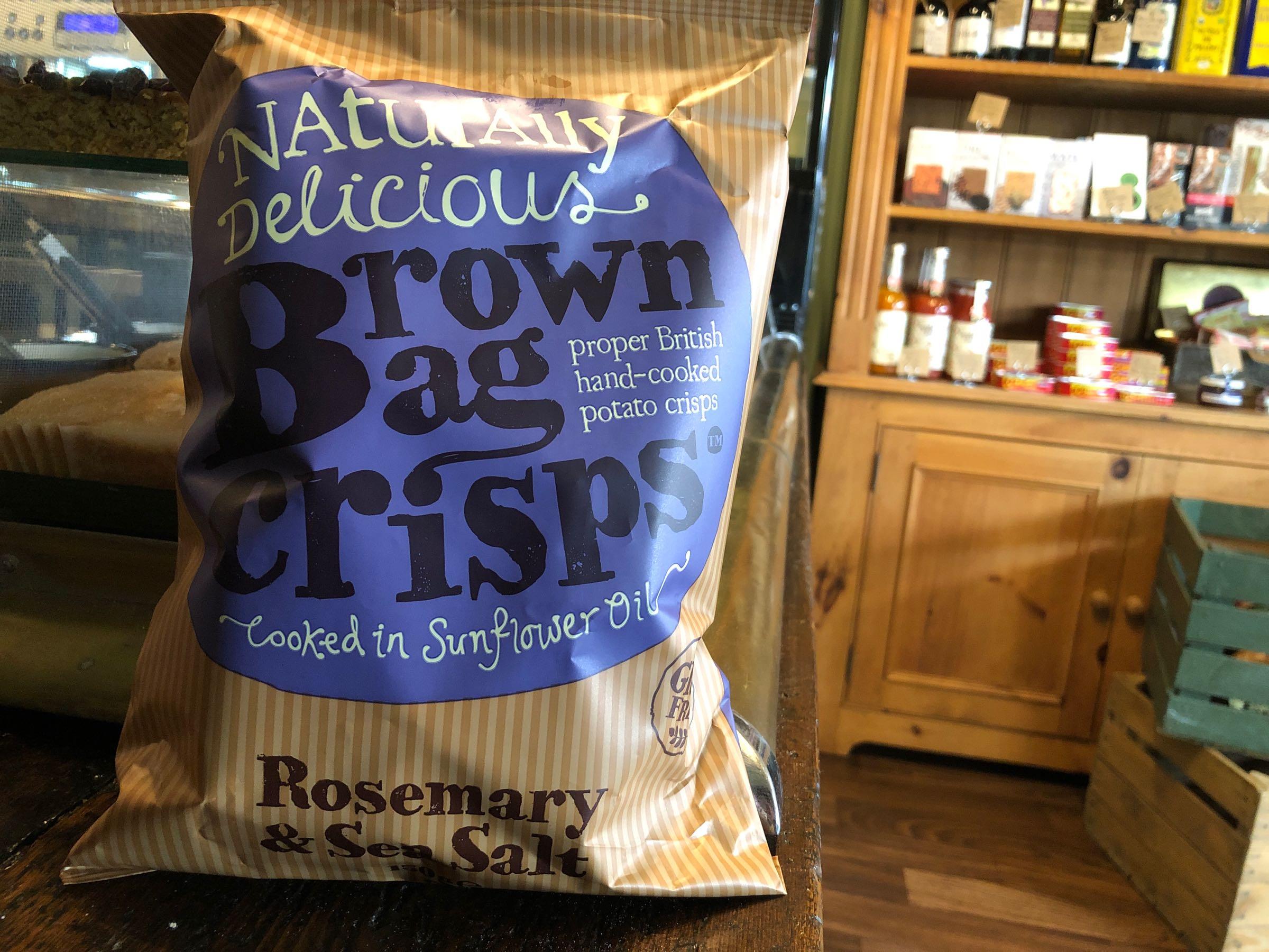 Brown Bag Crisps Rosemary and Sea Salt 150g