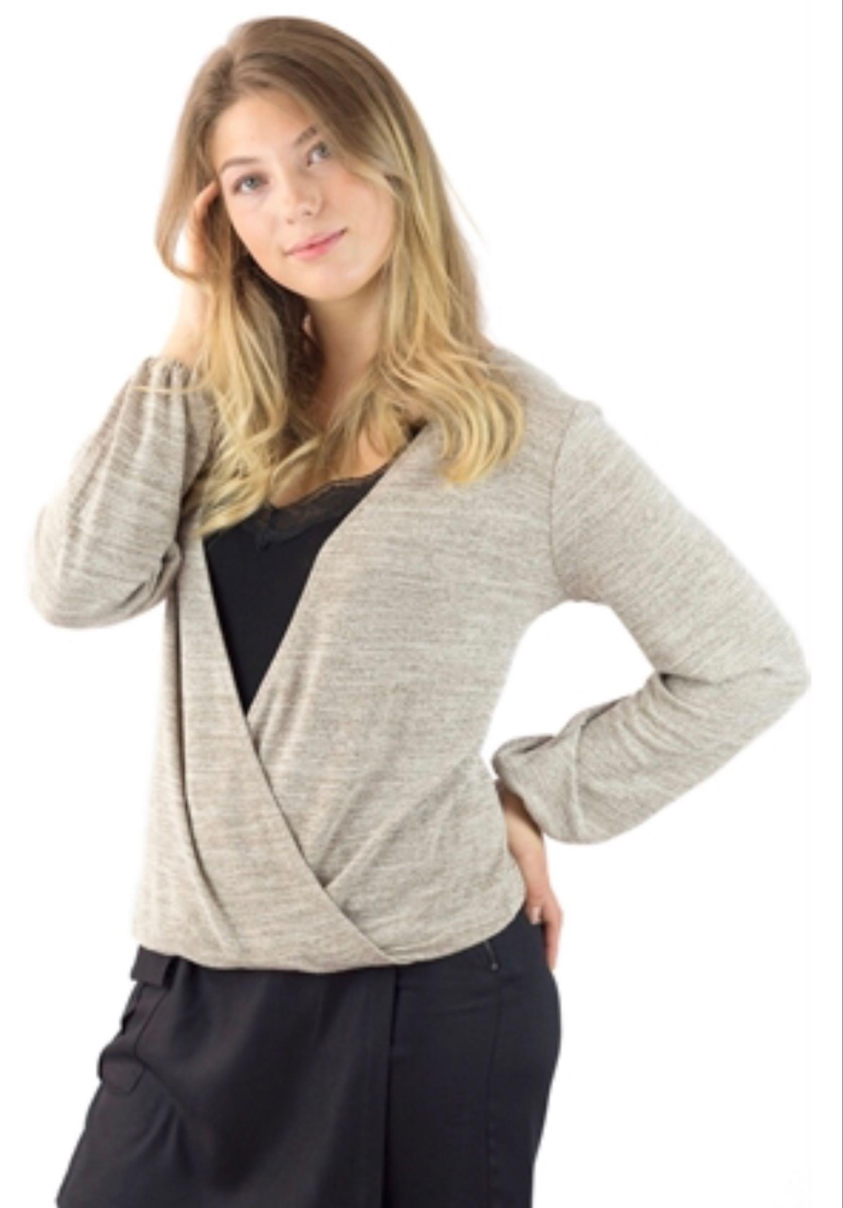 April sweater, Linen melange