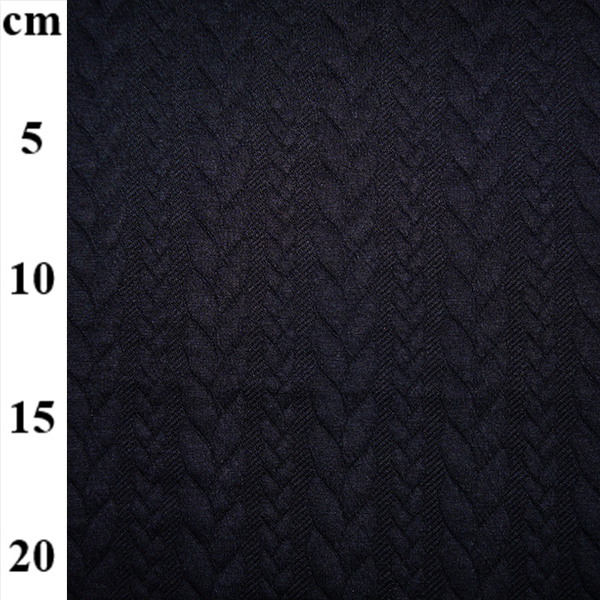 50cm cable knit jersey navy remnant