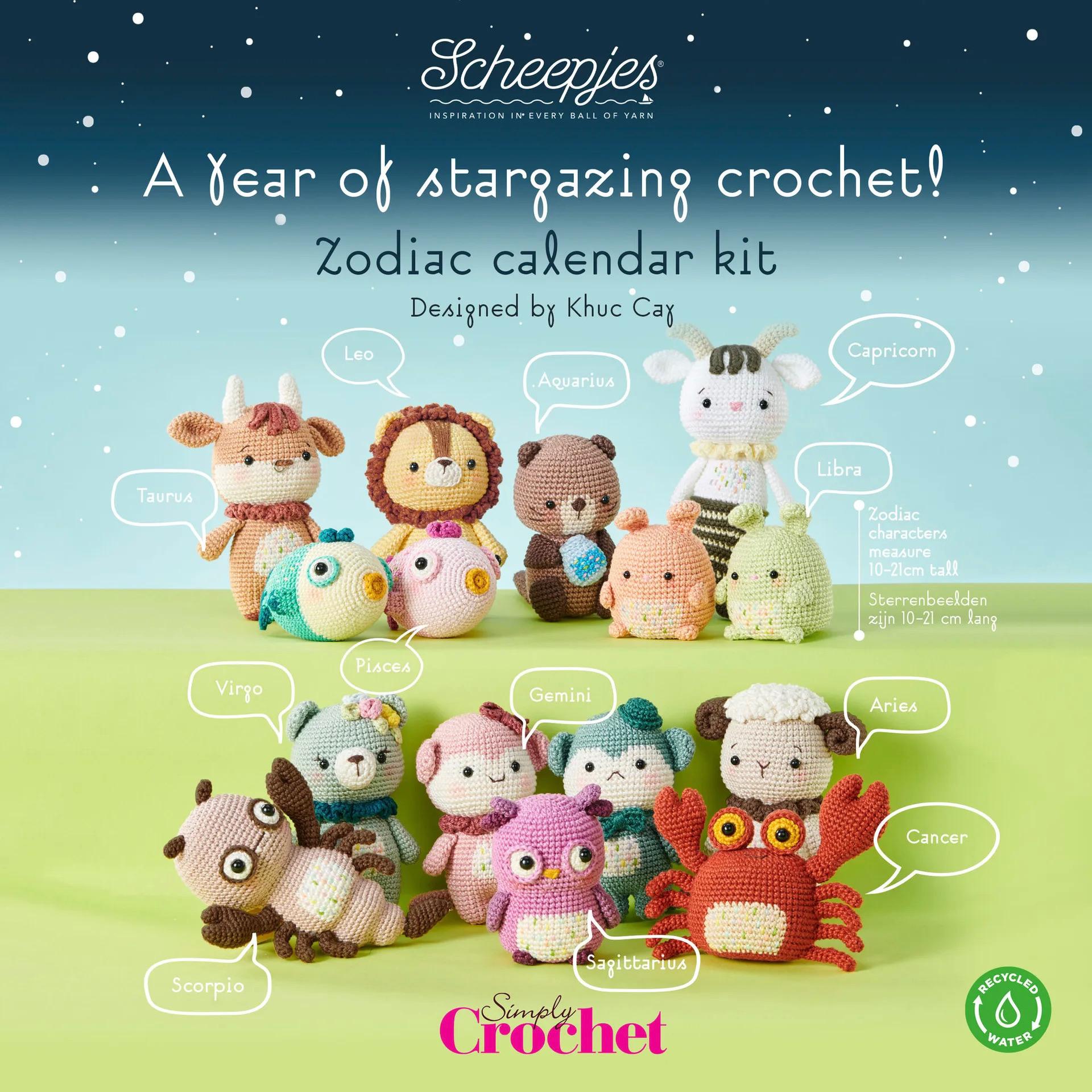 Zodiac Crochet Calendar Kit