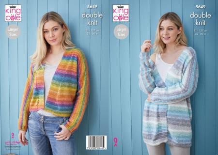Knitting pattern KC5649 Ladies Cardigan in Bramble DK