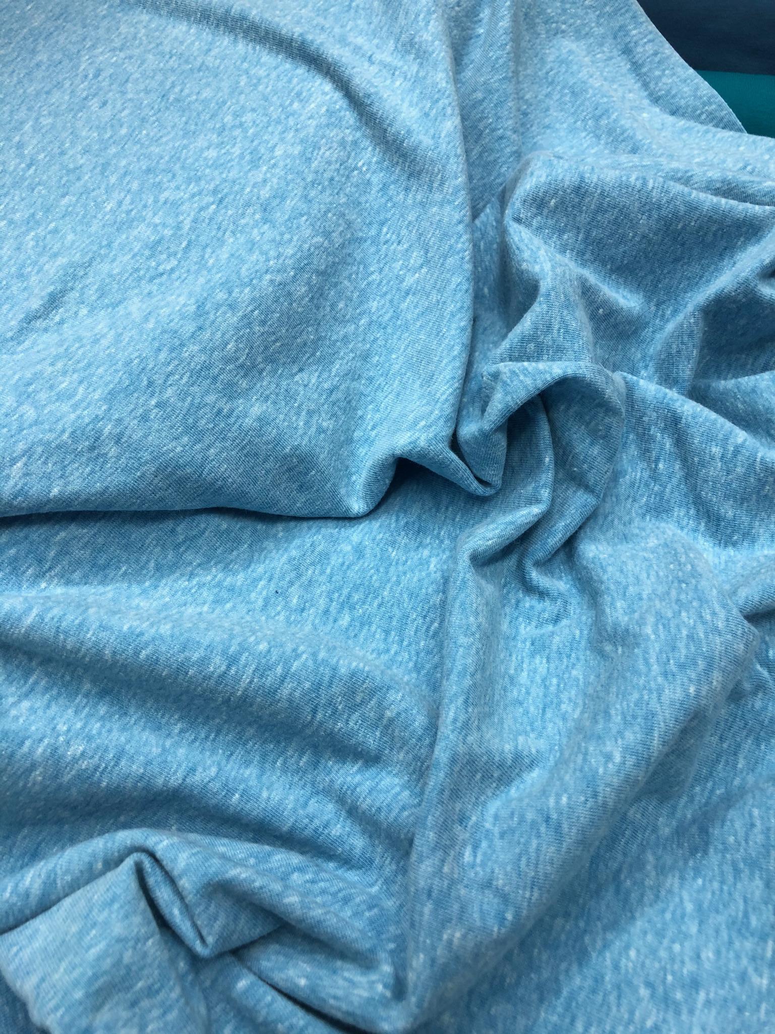 Melange sky blue organic cotton jersey