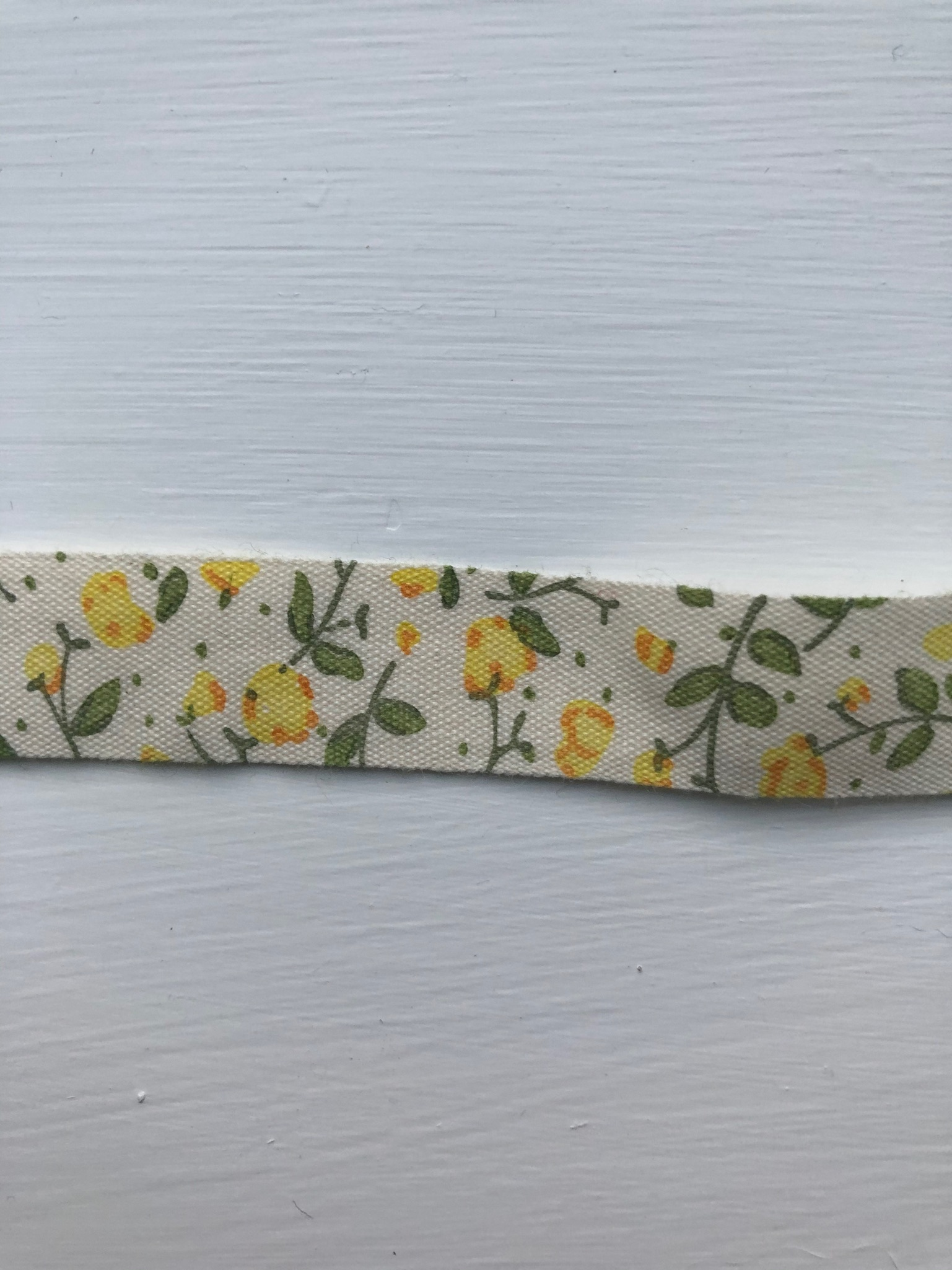 Yellow Floral cotton tape 14mm