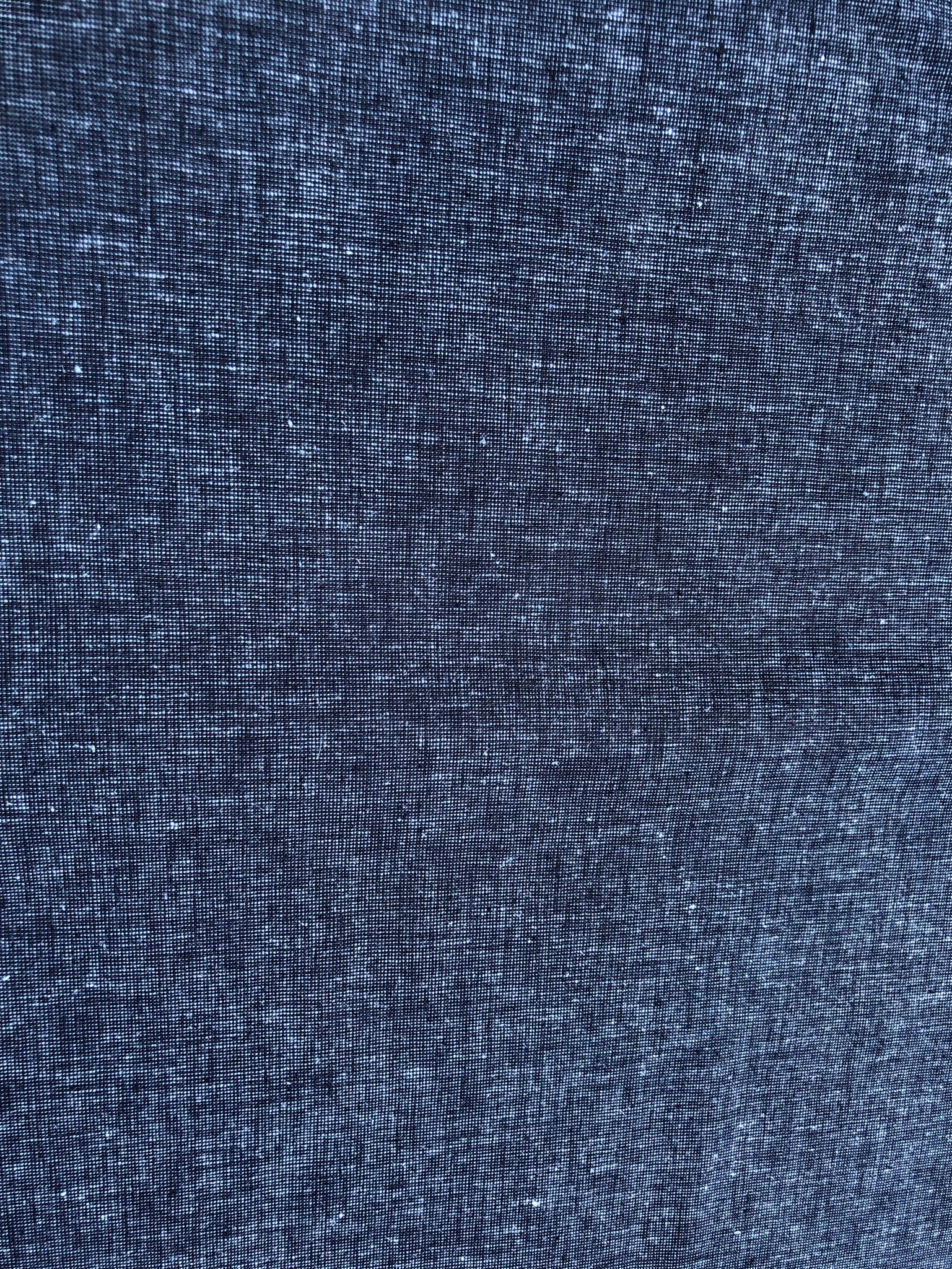 Denim Blue Linen/Cotton mix