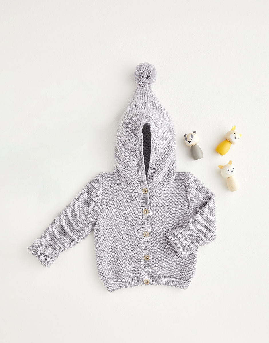 Sirdar Snuggly 4ply Pixie Hood Jacket Pattern 5390