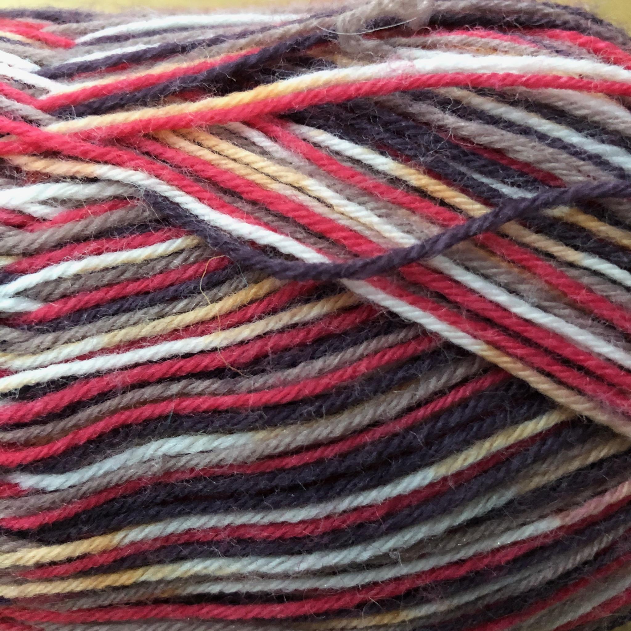 Zig Zag  4 ply sock yarn