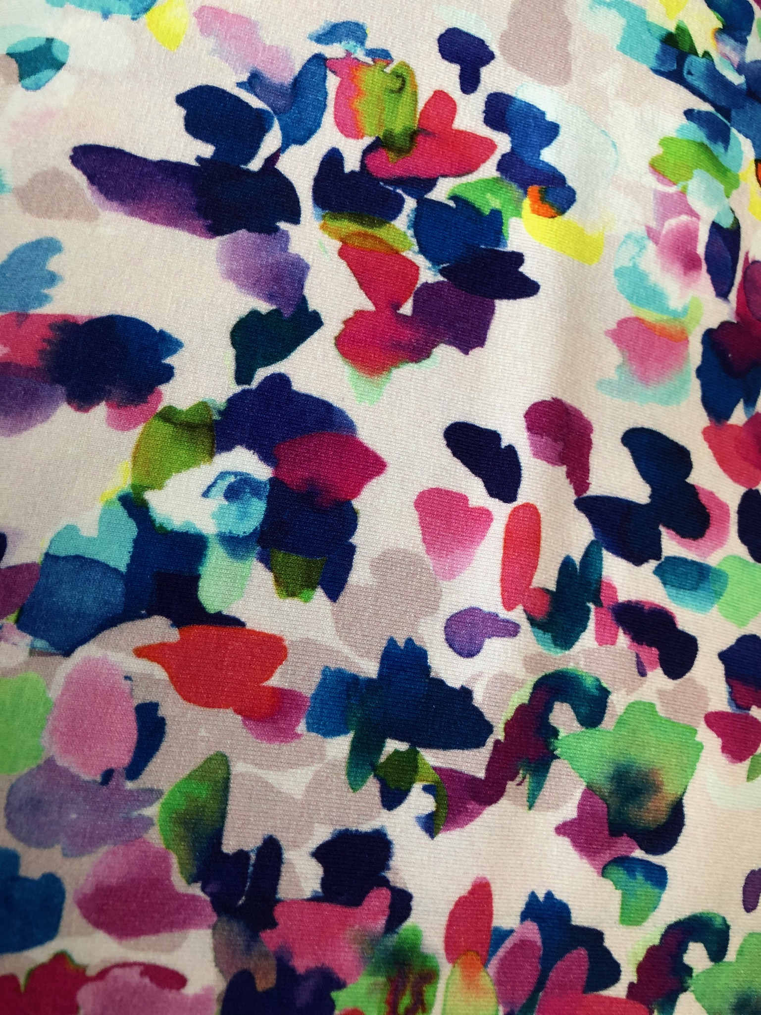 Jersey Viscose Multi Coloured Paint design