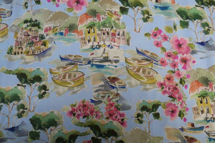 Life in Venice Viscose Challis Lawn