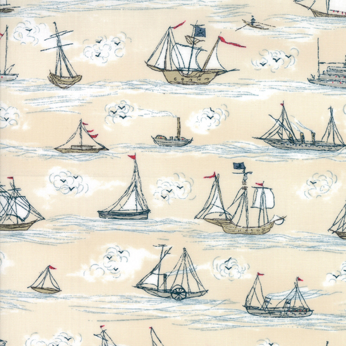 Moda Ahoy Me Hearties by Janet Clare