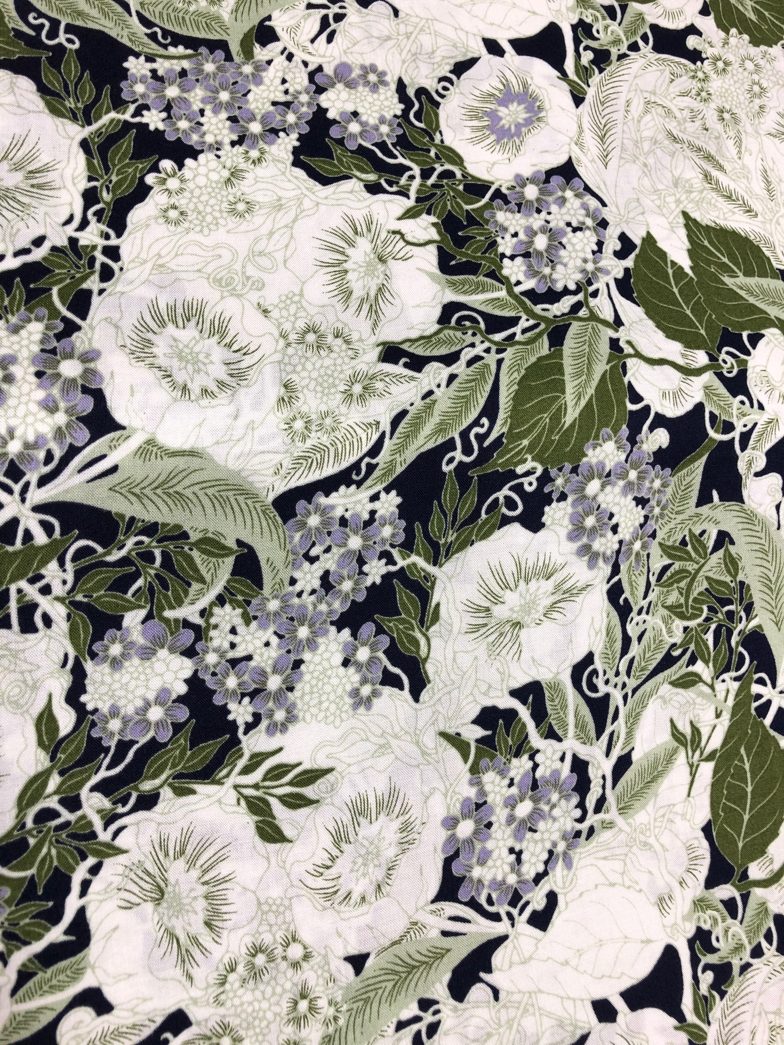 Weeping Bloom Viscose Print 1.3metre bolt end