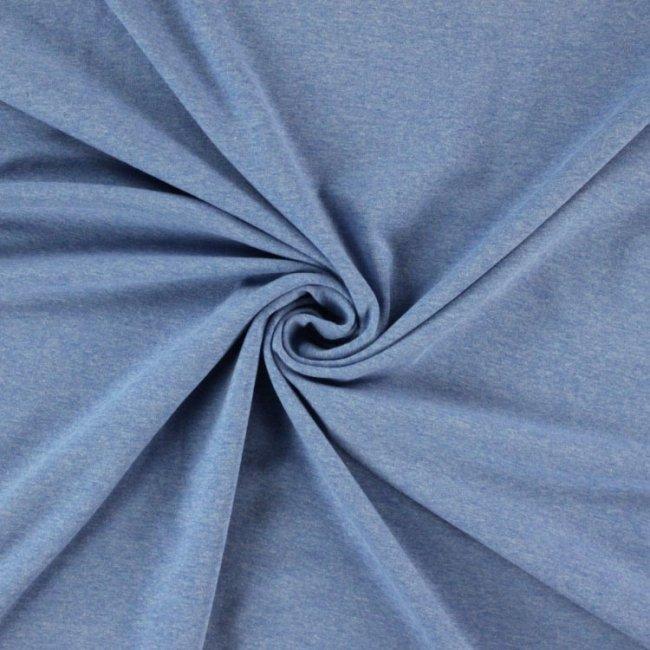 Melange denim blue organic cotton jersey