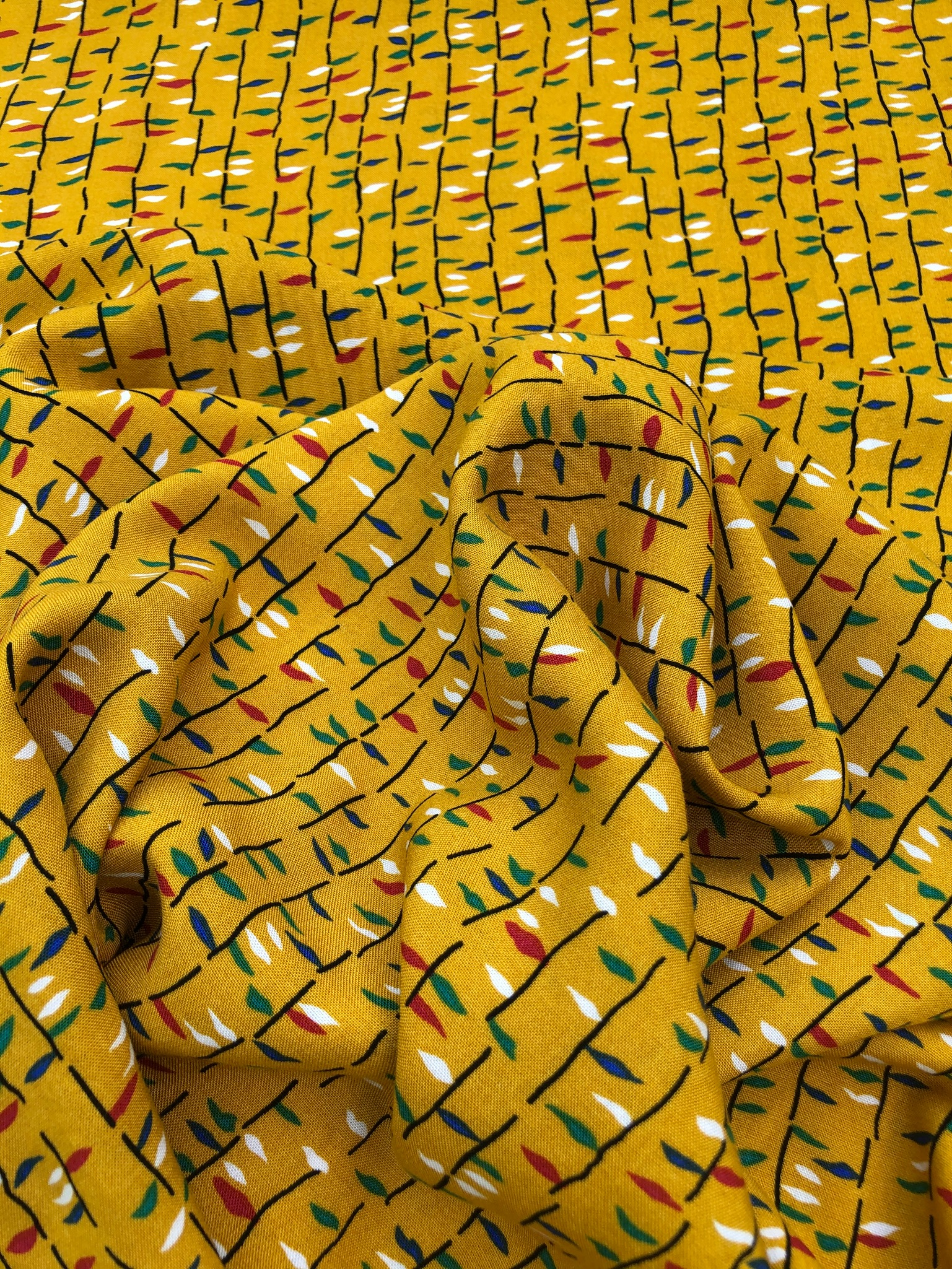 Mustard Flags Viscose