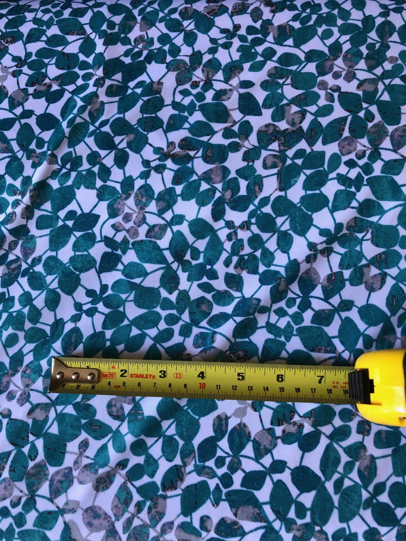 Jersey Viscose Trailing Leaves - 2 metre remnant
