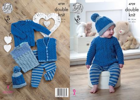 King Cole Comfort DK Baby Set 4729 pattern