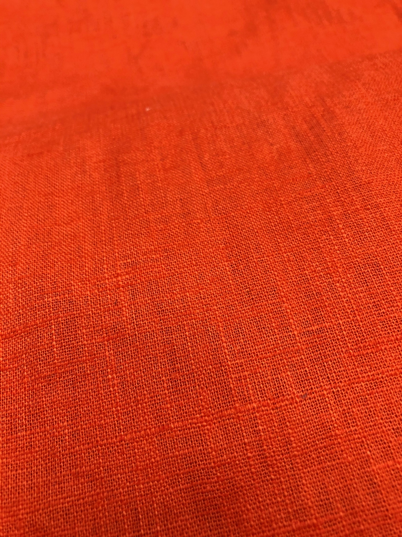 Orange enzyme washed Linen