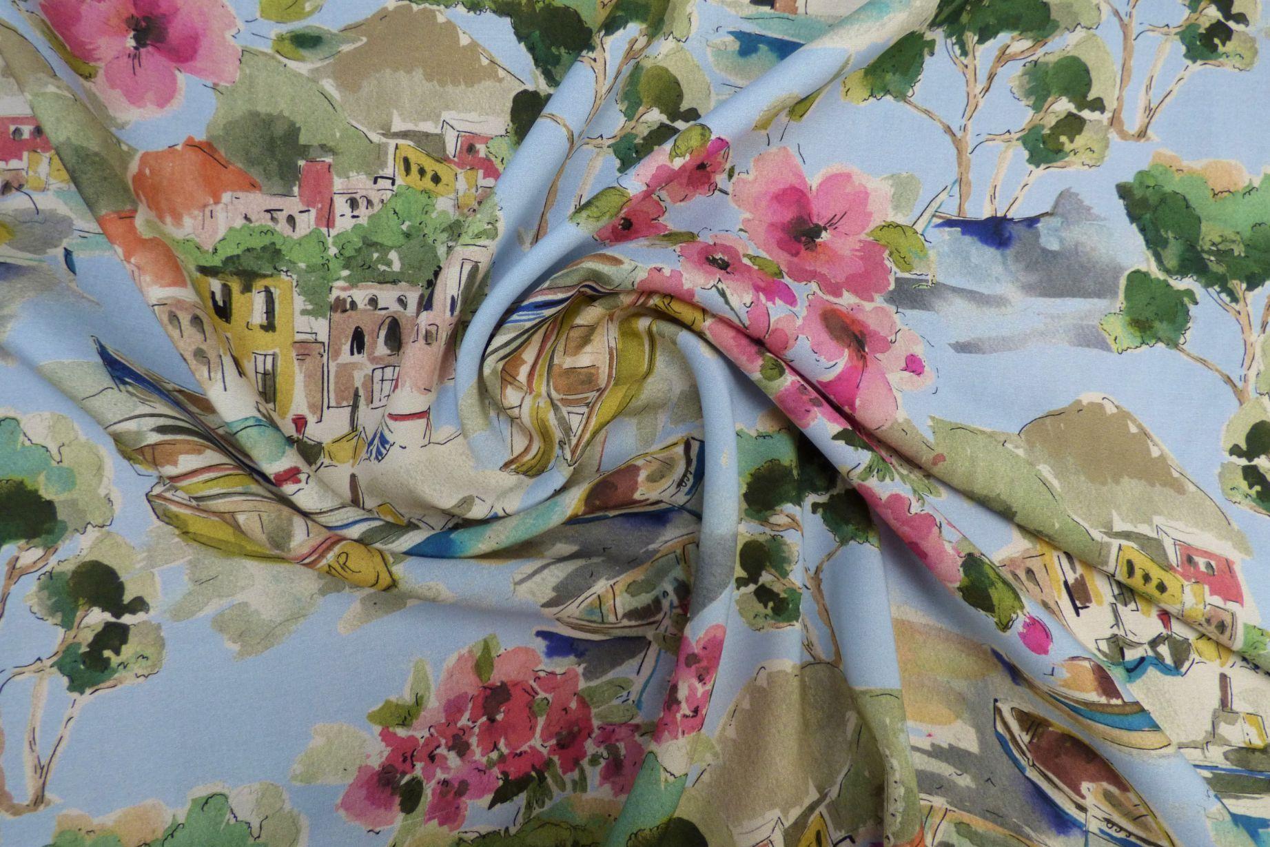Life in Venice Cotton Lawn