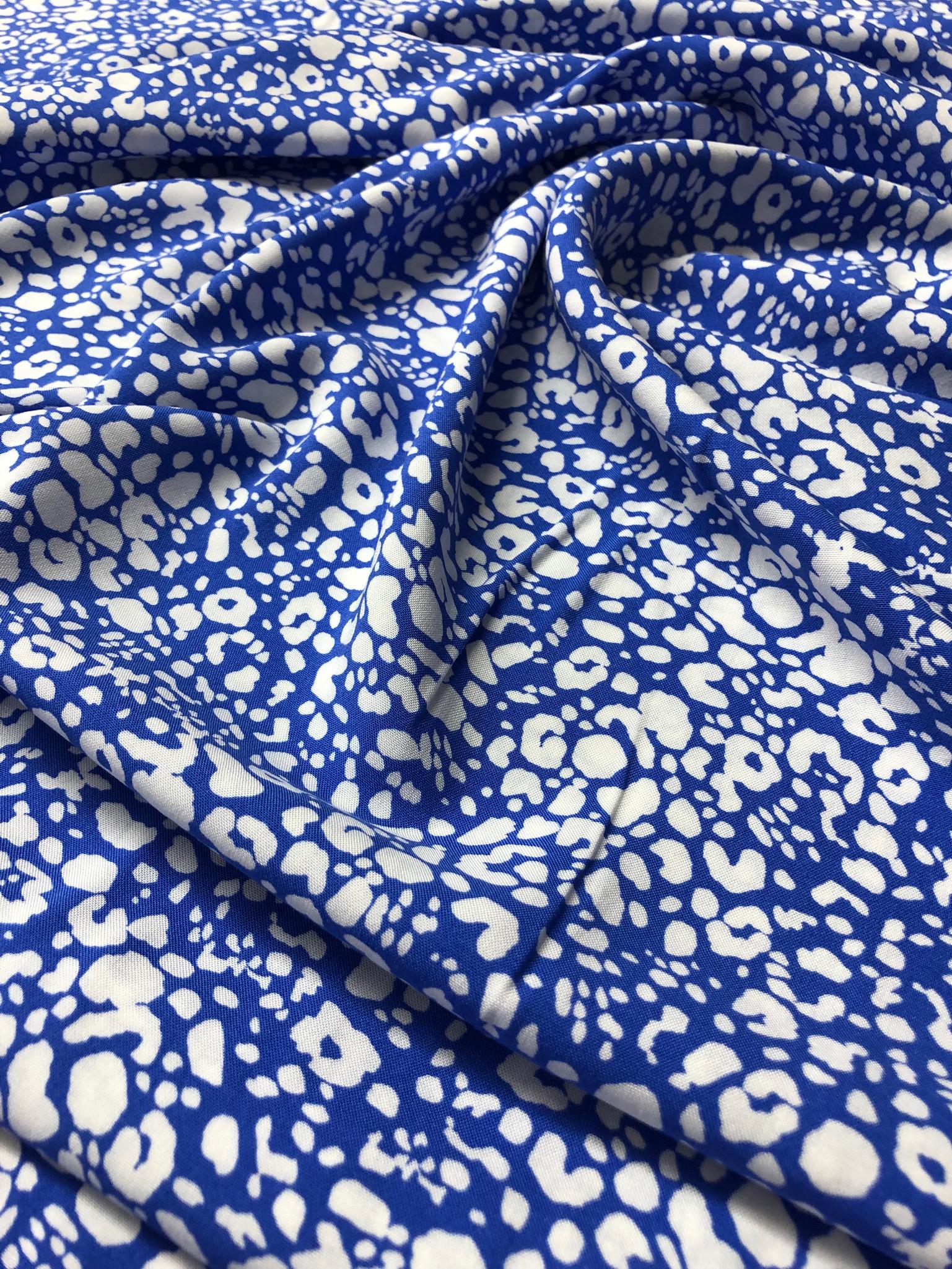 Blue Leopard Viscose