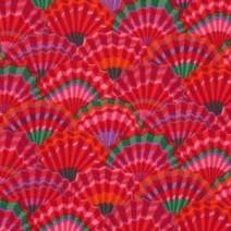 Paper Fans Kaffe Fasset red 80cm remnant