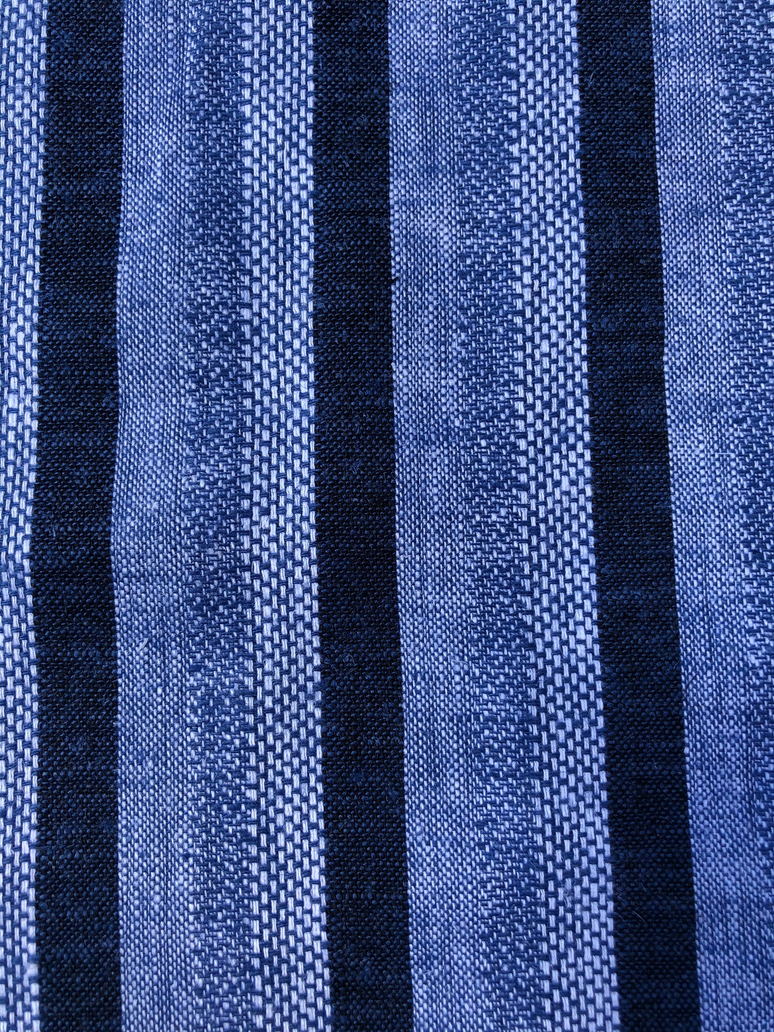 Blue woven stripe Linen mix