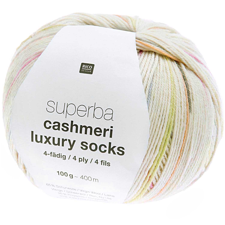 Rico Superba Cashmeri Luxury 4ply Sock