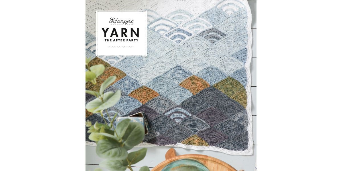Yarn the After Party No65 Mountain Clouds Blanket crochet pattern