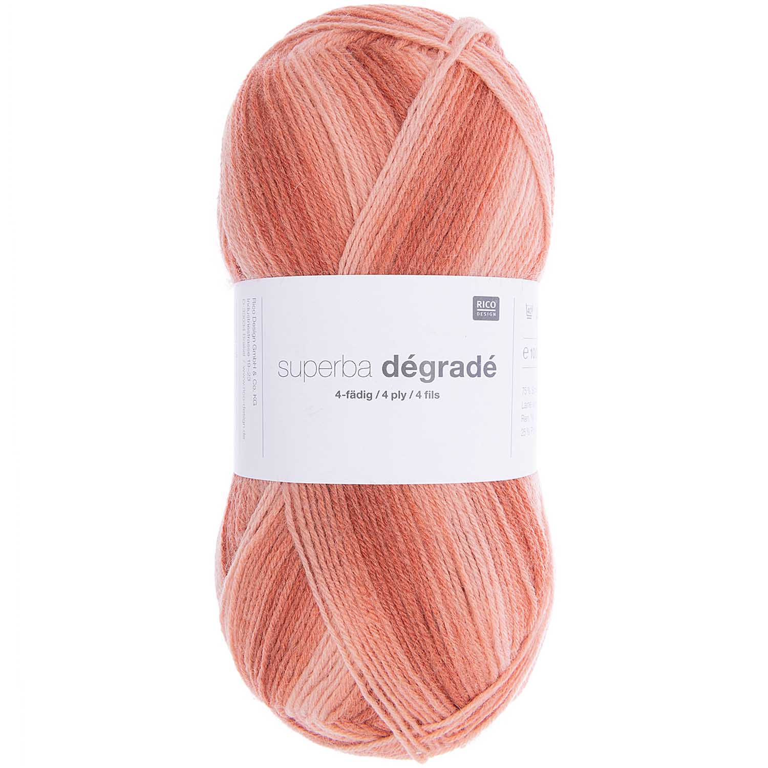 Rico Superba Degrade 4ply sock