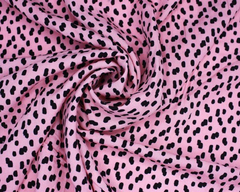 Pink Dalmation Viscose- 2.30 metre remnant piece